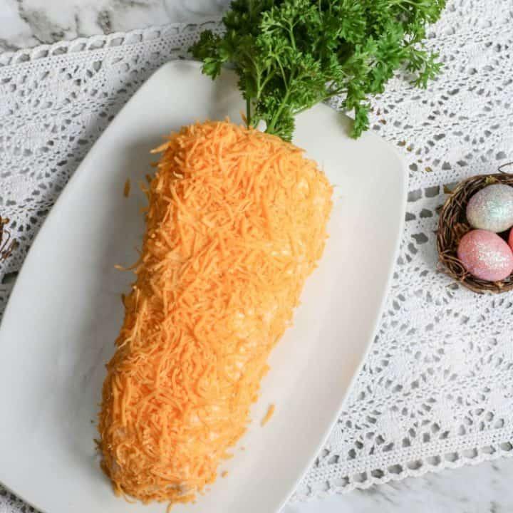 Easter Carrot Shaped Cheeseball Recipe