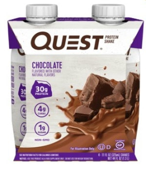 Printable Coupon: $2 off Quest Protein Shakes + Walmart Deal