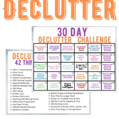 30 Day Declutter Challenge {FREE Printable}