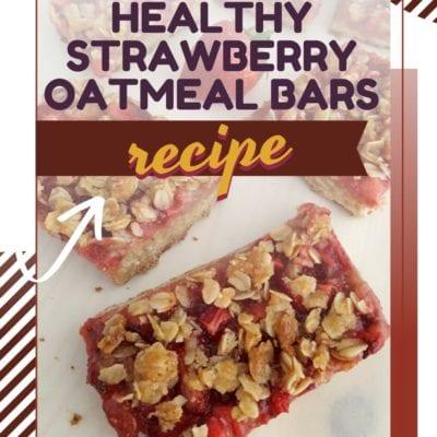 Healthy Strawberry Oatmeal Bars Recipe