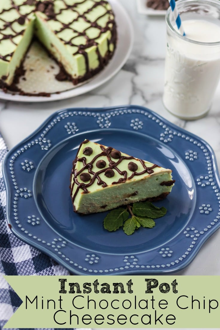Instant Pot Mint Chocolate Chip Cheesecake with Chocolate Ganache Recipe