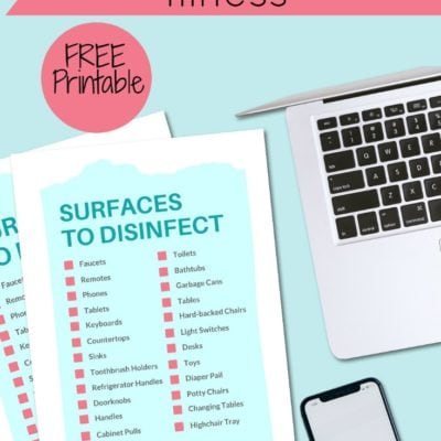What Surfaces to Disinfect During Illness FREE Printable