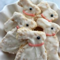 Easter Bunny Krispie Treats