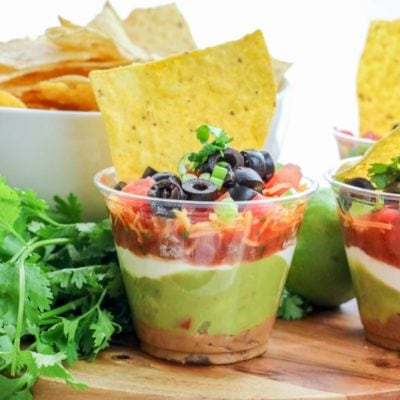 Seven Layer Dip Party Cups Recipe