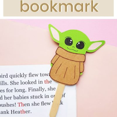 Baby Yoda DIY Paper Craft Bookmark