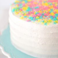 Multi-Colored Easter Cake