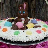 Easter Basket Chocolate Pie