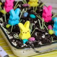 Easter Dirt Cake with Peeps