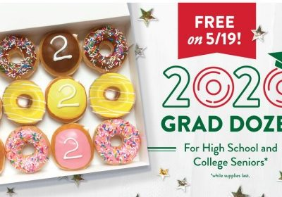 Krispy Kreme: FREE Dozen Doughnuts for 2020 Seniors (5/19 only)