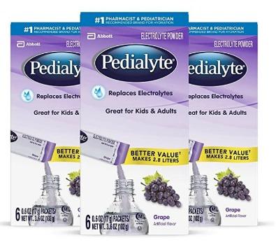 Pedialyte Electrolyte Powder (18 ct.): $13.77 + FREE Shipping