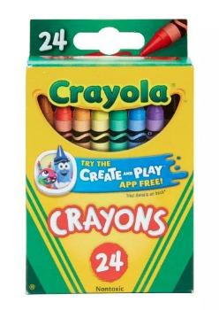 Crayola Crayons (24 ct.): $0.50 (64% off)