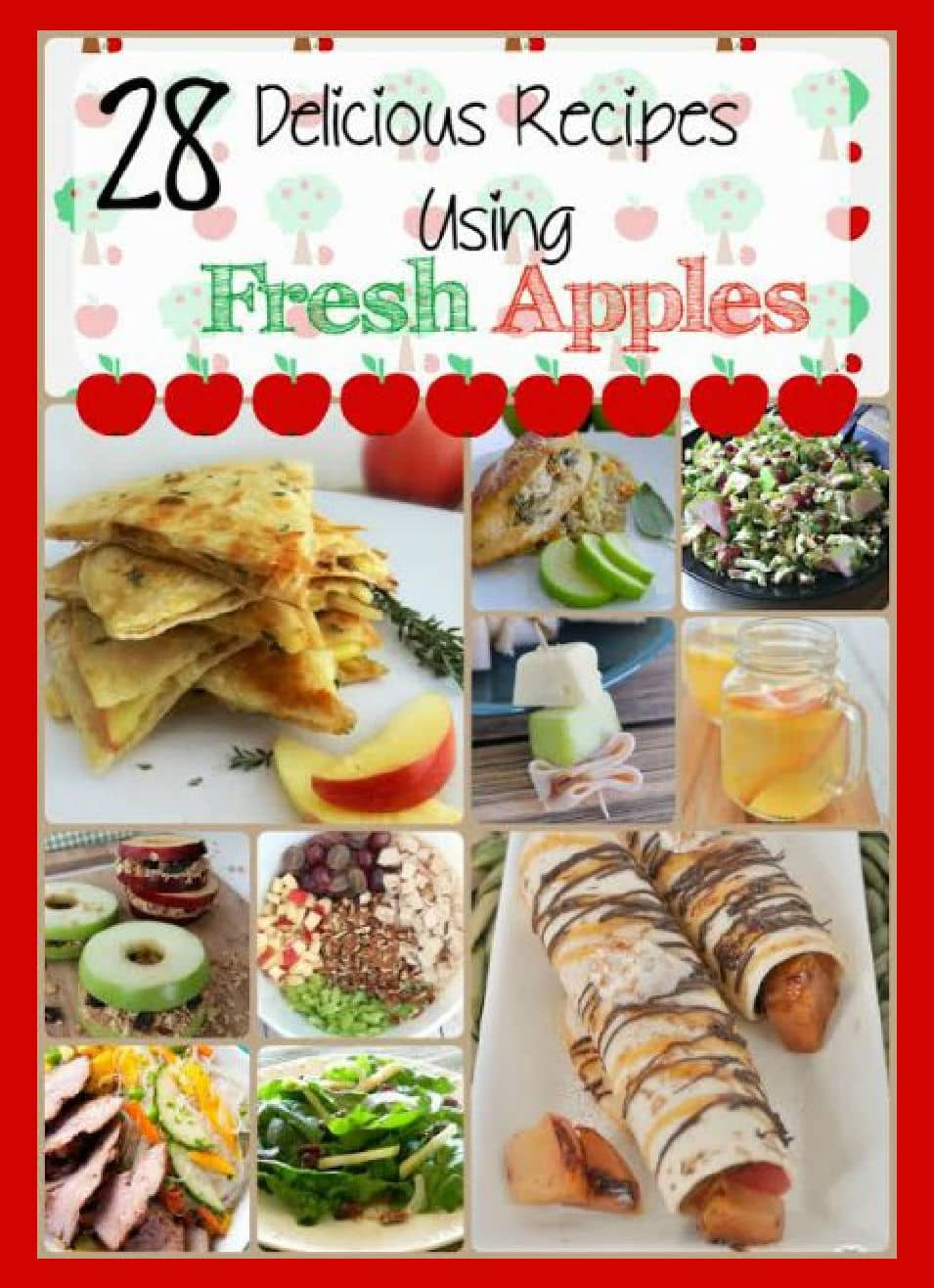 image collage of apple recipes