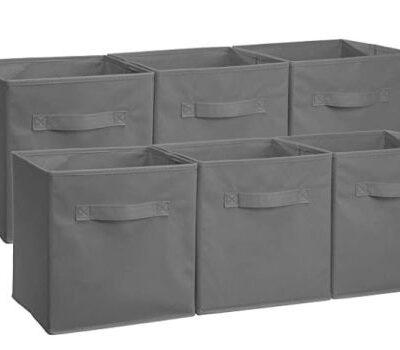 AmazonBasics Collapsible Fabric Storage Cubes (6 pk.): $11.09 (45% off) + FREE Shipping
