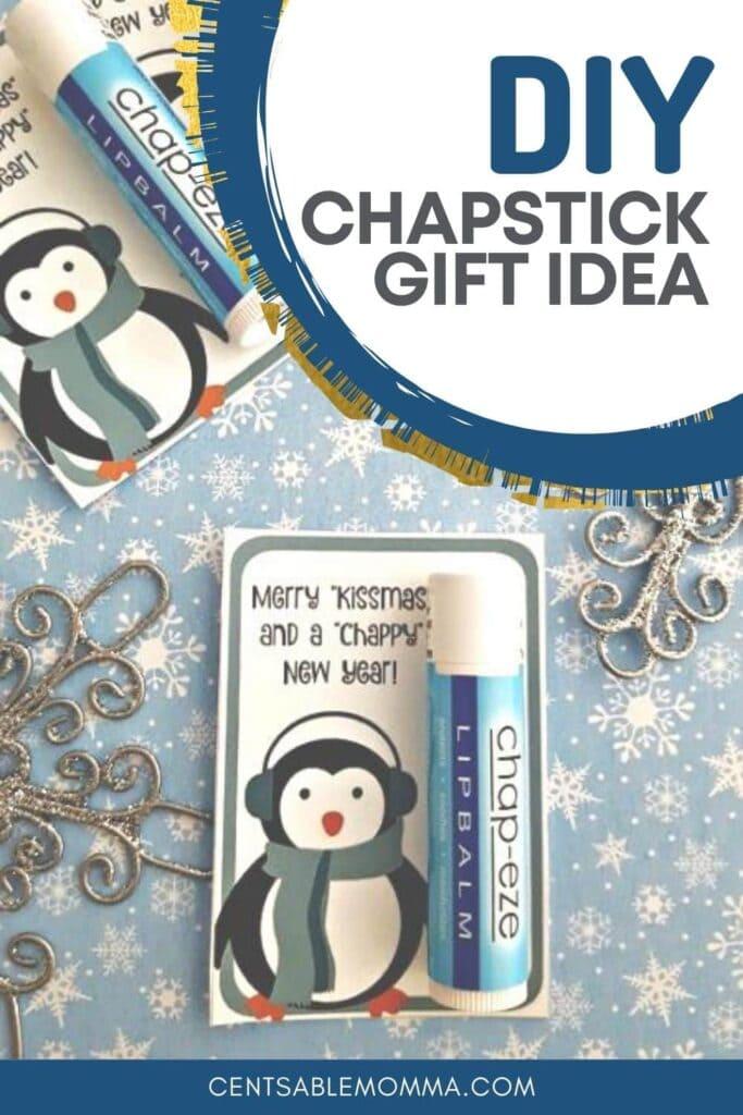 lip balm gift idea with free printable tag.