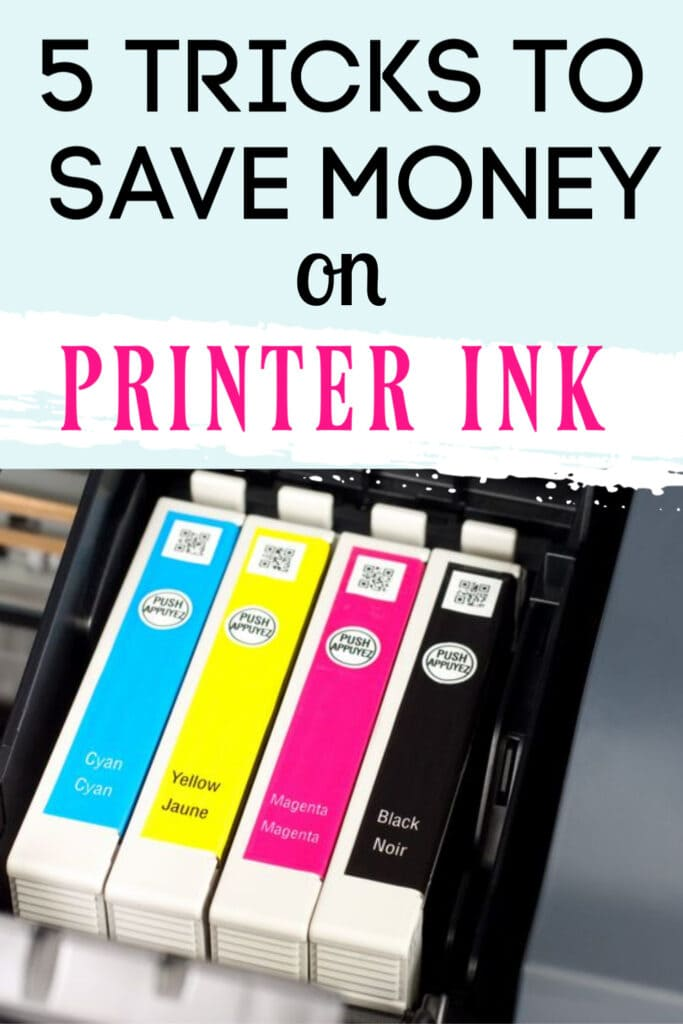 color printer ink cartridges (with text overlay).
