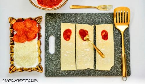 Pizza de Pepperoni Caseiro Hot Pockets Receita na Fritadeira 7