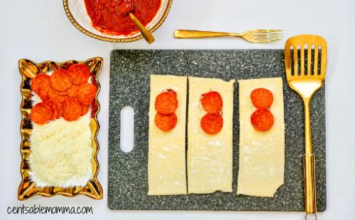 Pizza de Pepperoni Caseiro Hot Pockets Receita na Fritadeira 11