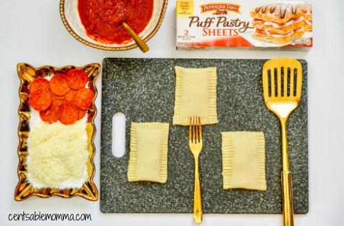 Pizza de Pepperoni Caseiro Hot Pockets Receita na Fritadeira 13