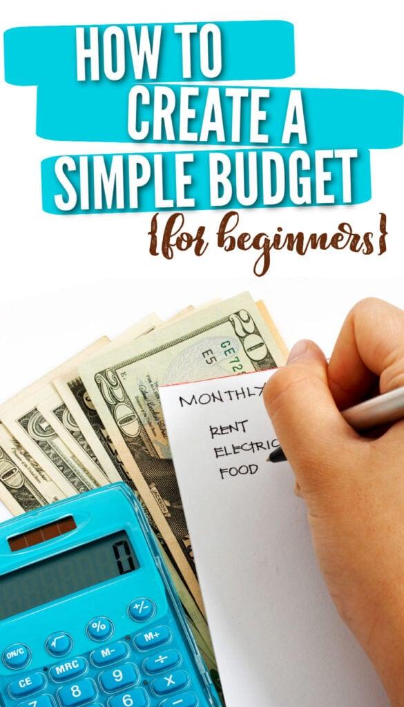 Como criar um orçamento simples para iniciantes 3