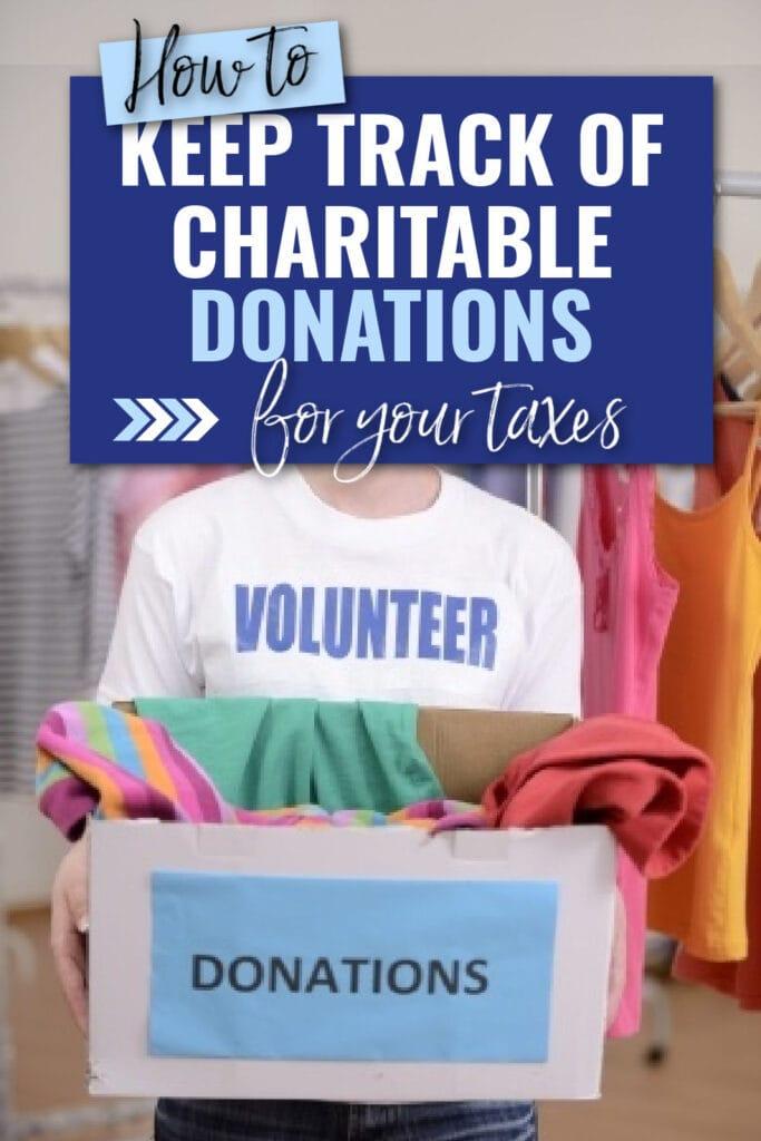 Como manter o controle de suas doações de caridade para impostos 5